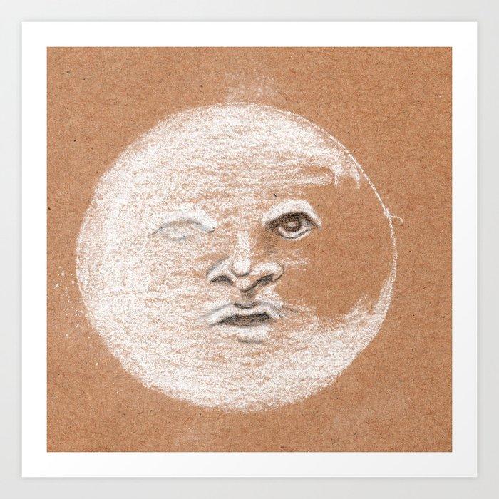 Mister Moon Art Print