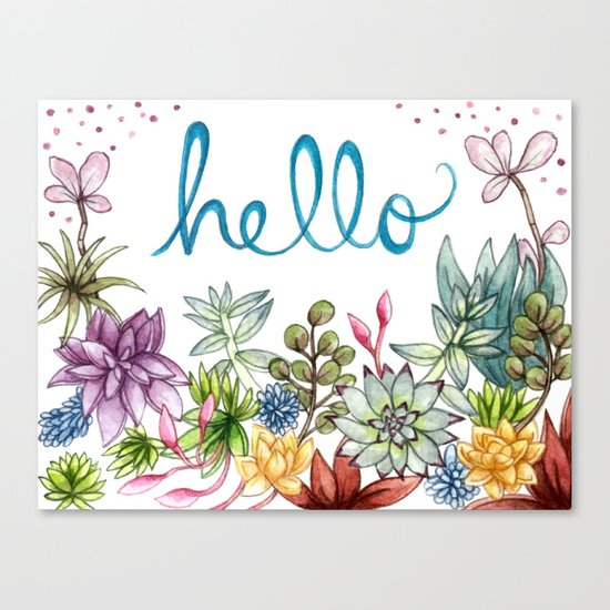 hello spring Canvas Print