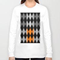 orange pattern Long Sleeve T-shirts featuring Pattern orange by LoRo  Art & Pictures