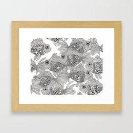 Fish School I Framed Art Print