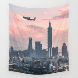 Taipei Takeoff Wall Tapestry