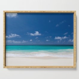 Peaceful Turquoise Blue Ocean Seascape Serving Tray