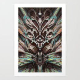 Abstract Anomaly [Blue Dream] Art Print