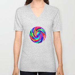 Crazy colours Unisex V-Neck