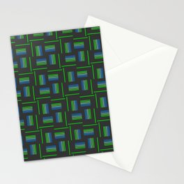 Abstract Windmills Pattern Stationery Cards
