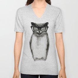 Mr. Owl Unisex V-Neck