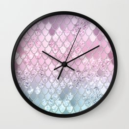 Mermaid Glitter Scales #2 #shiny #decor #art #society6 Wall Clock