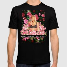 BRITNEY PRAYS. Mens Fitted Tee Black MEDIUM