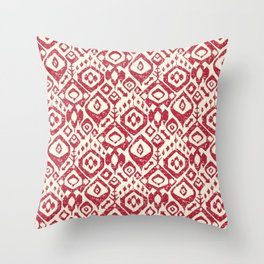 lezat red Throw Pillow