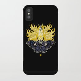 Moths to a Flame iPhone Case