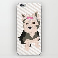yorkie iPhone & iPod Skins featuring YORKIE by Pretty Sweet Life: THE PRINT SHOP
