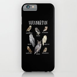 Types of owls, Owl lover Gift, Barn Owl, Snow Owl iPhone Case
