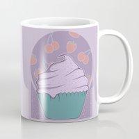 cupcake Mugs featuring Cupcake by Perdita