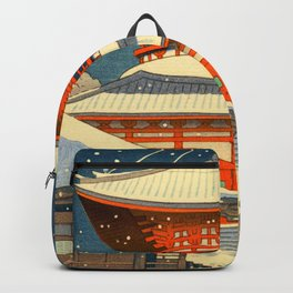 Asano Takeji Views of Wakayama Koyasan Nemoto Big Pagoda Japanese Woodblock print Backpack