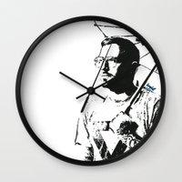 dallas Wall Clocks featuring Dallas Green by Carolyn Campbell