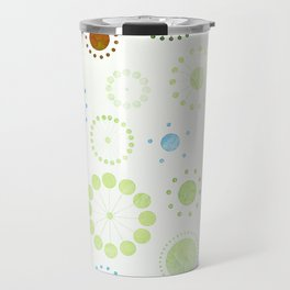 Whimsical Retro Watercolor Pattern Travel Mug