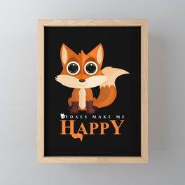 Foxes Make Me Happy Framed Mini Art Print