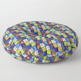Multicolored Patchwork Floor Pillow