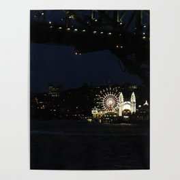 Luna Park by the Harbour Poster
