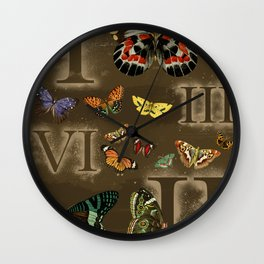 Let's Count Butterflies Wall Clock