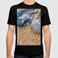 Abstract beautiful rocks on the sand Mens Fitted Tee Black MEDIUM