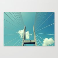 bridge Canvas Prints featuring Bridge by Ubik Designs