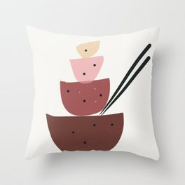 Midcentury modern bowls Throw Pillow