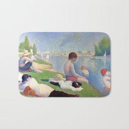 """Georges Seurat """"Bathers at Asnières"""" Bath Mat"""