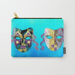Italian Venetian Carnival Mask Pattern Carry-All Pouch