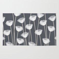 White Poppies Rug