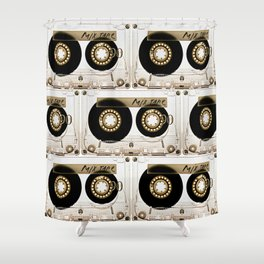 Transparant mix tape Retro Cassette Shower Curtain