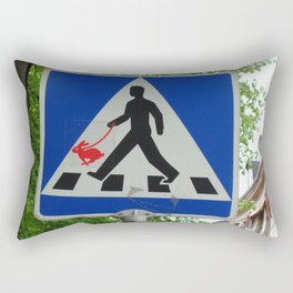 Taking Bunny for a Walk Rectangular Pillow