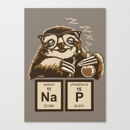 Chemistry sloth discovered nap Canvas Print