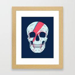 Bowie Skull Framed Art Print