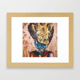 Giraffe Me Centric Framed Art Print