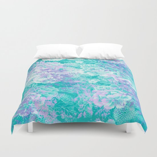 Elegant Vintage Floral Abstract Duvet Cover