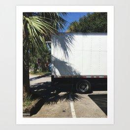 Charleston / Folly Palm on White Art Print