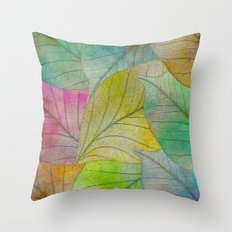 Pattern of Colorful Leaves Throw Pillow