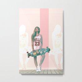 Pop Longboarding 23 Metal Print