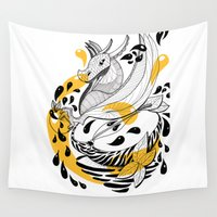 et Wall Tapestries featuring Cidre et Dragon by MalMoul CRéATION