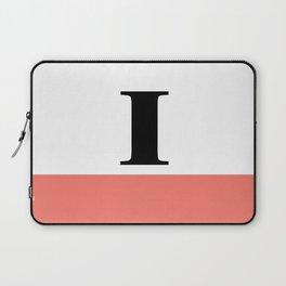 Monogram Letter I-Pantone-Peach Echo Laptop Sleeve
