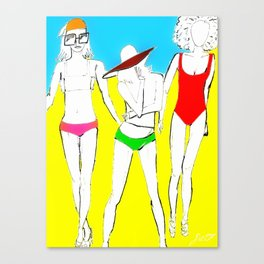 The Swimsuit Issue I Canvas Print