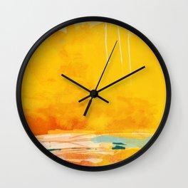 sunny landscape Wall Clock