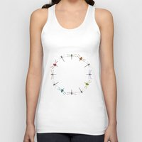 circle Tank Tops featuring Circle by Okti