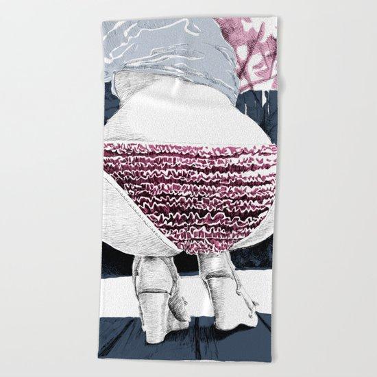 Frou-frou Beach Towel