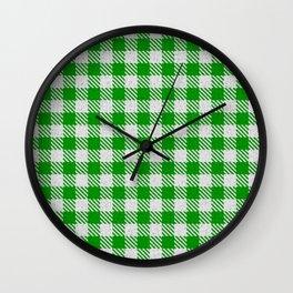 Islamic Green Buffalo Plaid Wall Clock