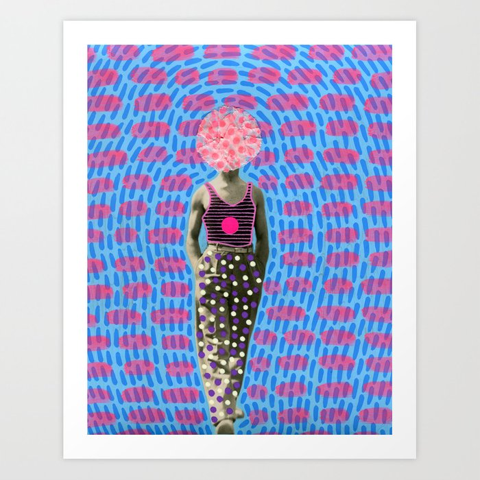 Walking Dot Art Print