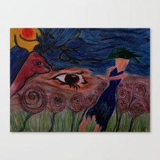 La Nature Des Yeux Canvas Print