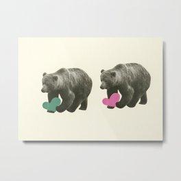 A Bear Romance Metal Print