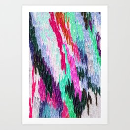 embroidered space Art Print